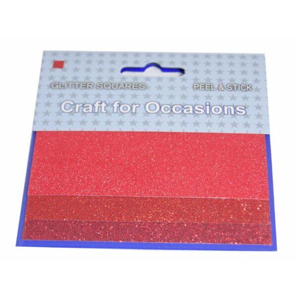 Öntapadós glitteres dekorációs kiegészítő - piros