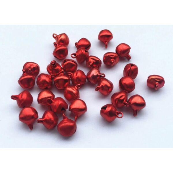 Piros színű fém csengettyű csomag - 20db