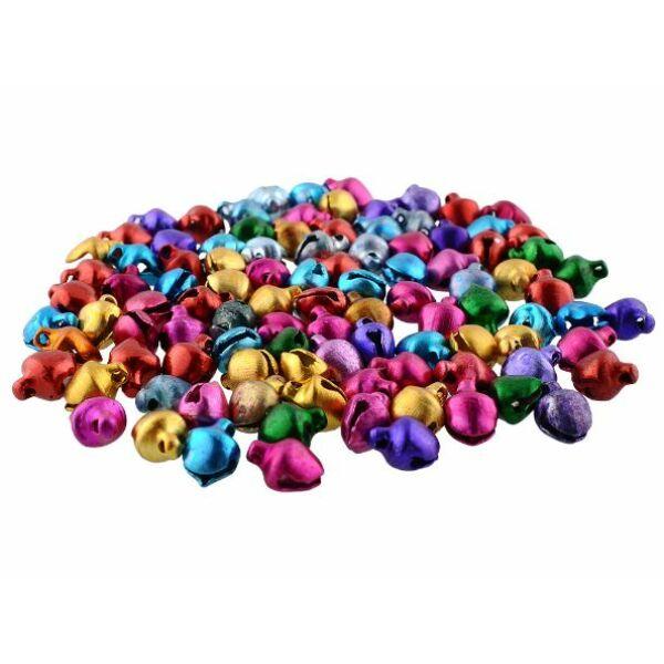 Vegyes színes fém csengettyű csomag