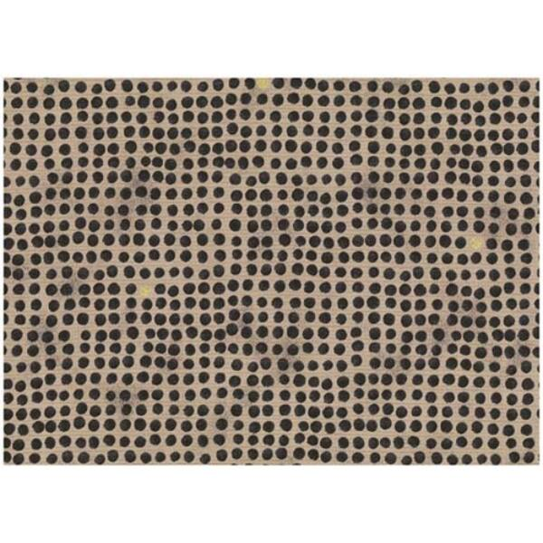 STOF fabric - Golden Elements – Dot Grid Black Tan