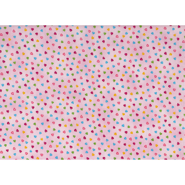 STOF fabric -  Lizzy Fay - Hearts on rose