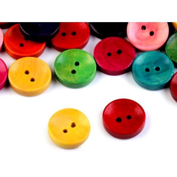 Egyszínű, festett fagomb csomag - 20mm - 10db