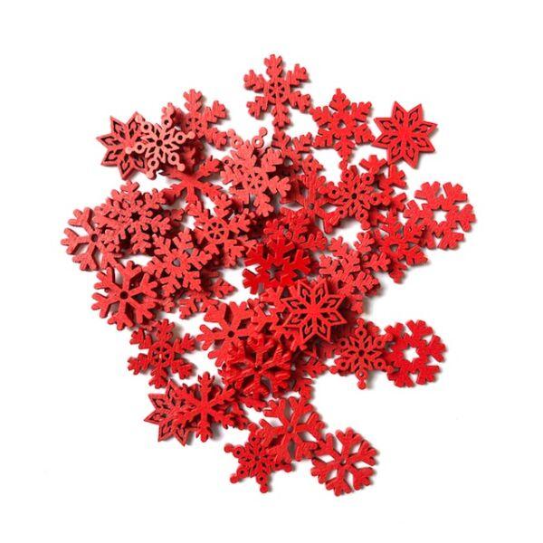 Piros hókristály csomag - 25mm - 10db