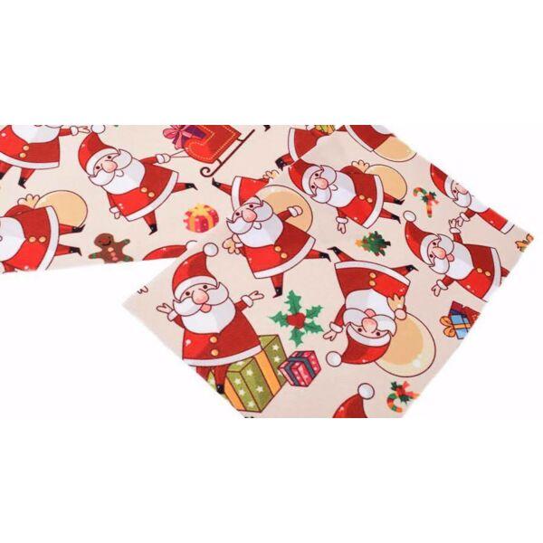 Karácsonyi mintás barkácsfilc - mikulás