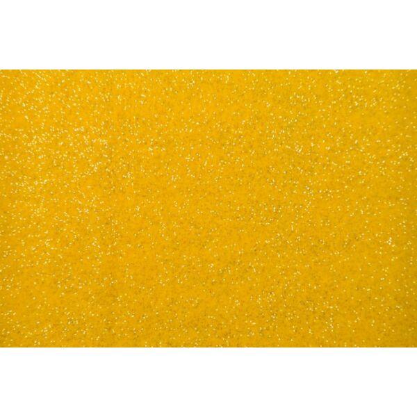 Csillámos barkácsfilc - sárga