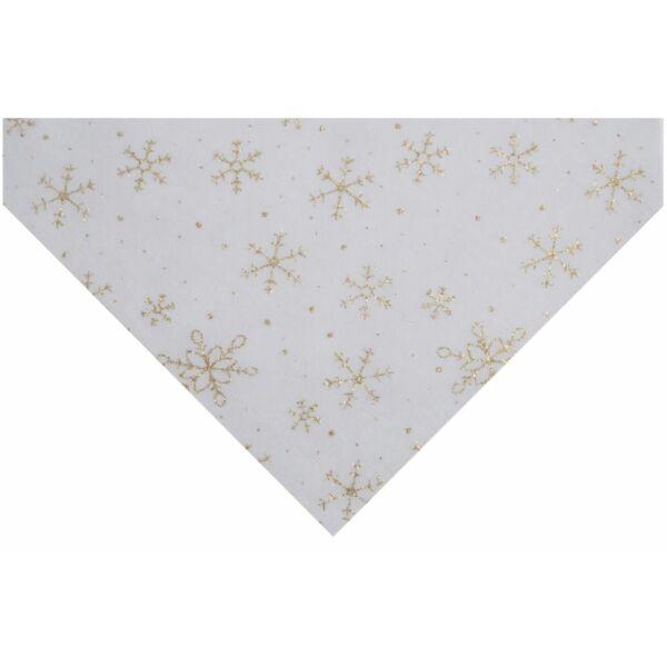 Csillogó hópihe mintás barkácsfilc - arany