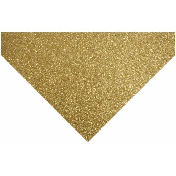 Glitteres barkácsfilc - arany
