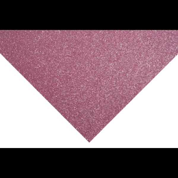 Glitteres barkácsfilc - rózsaszín