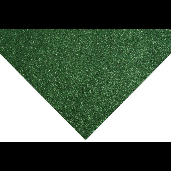 Glitteres barkácsfilc - zöld