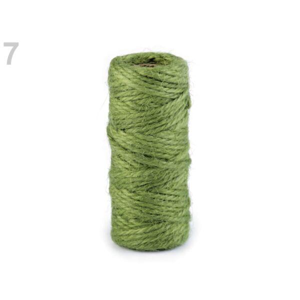 Színes szizál zsinór - zöld