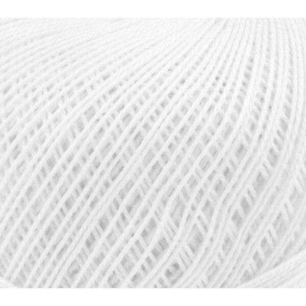 Mercezett pamut hímzőfonal horgoló fonal - 20gr - fehér