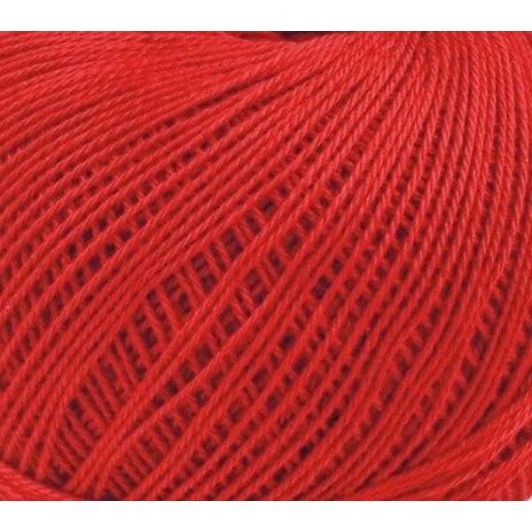 Mercezett pamut hímzőfonal horgoló fonal - 20gr - piros