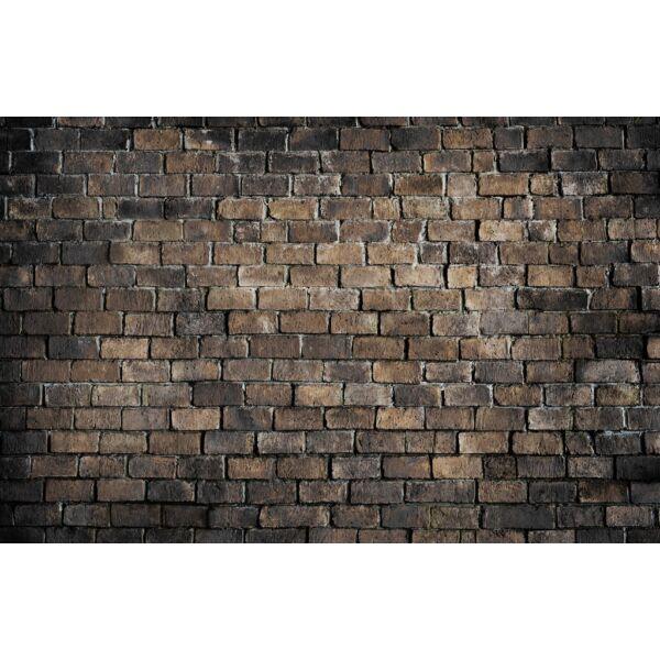 Fotóháttér - régi sötétbarna téglák - 40cm x 60cm