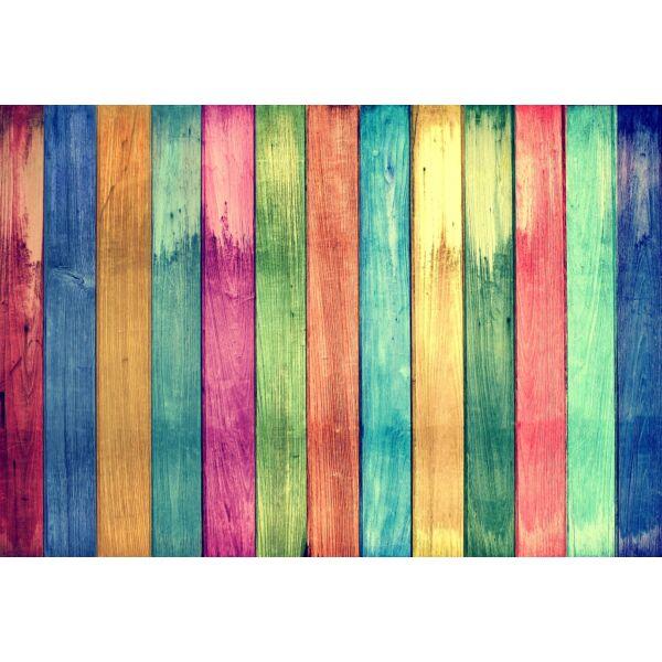 Fotóháttér - színes fa deszkák - 40cm x 60cm