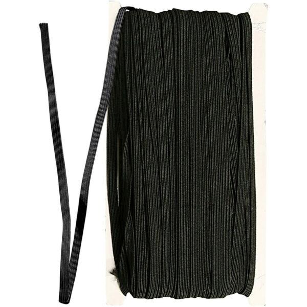 Gumipertli - 6mm széles - fekete