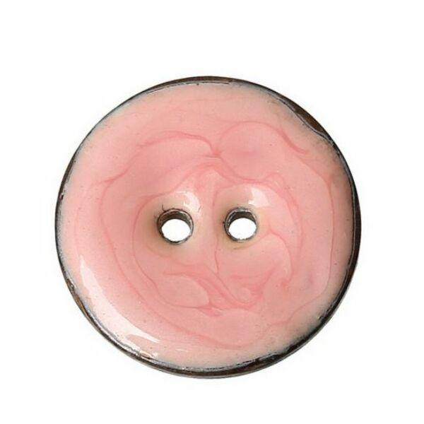 Rózsaszínre festett kókusz gomb