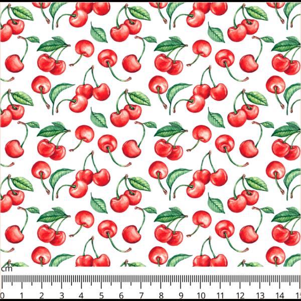 Mintás barkácsfilc méteráru - cseresznye