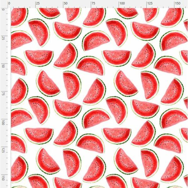Mintás barkácsfilc méteráru - görögdinnye