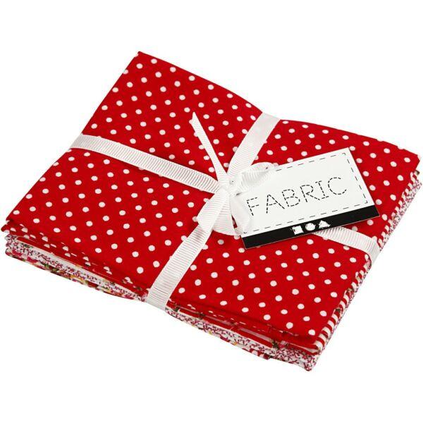 Pamutvászon csomag - piros