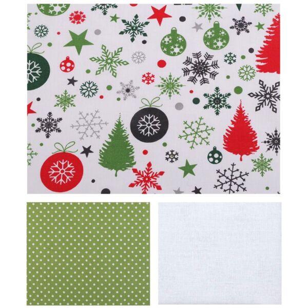 Mini pamutvászon csomag - karácsonyi minták