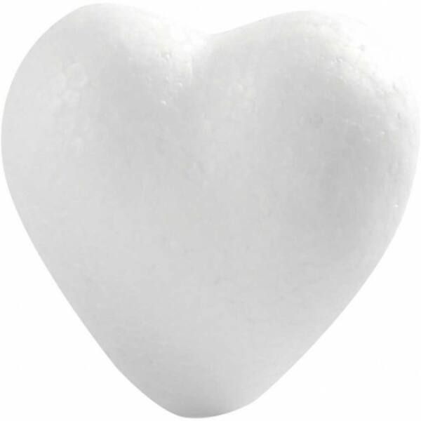 Polisztirol szív - 6cm