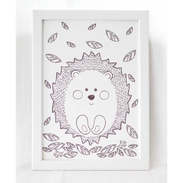 Pulee vászon kép keretben - süni