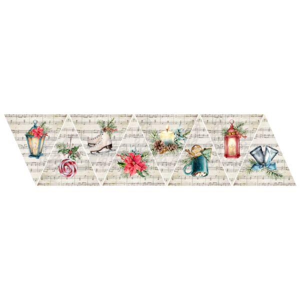 Banner mintás barkácsfilc - tradicionális karácsony - kiegészítők