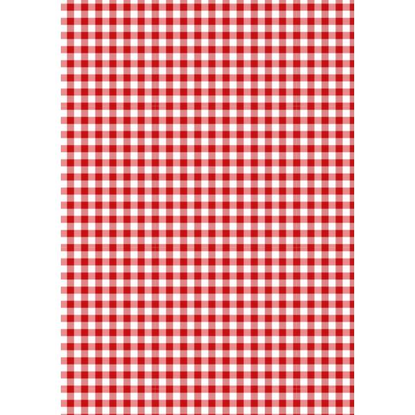 Mintás barkácsfilc - Christmas Basics - piros kockás