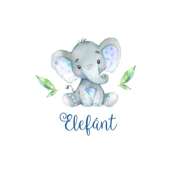 Mintás barkácsfilc - African Friends - elefánt