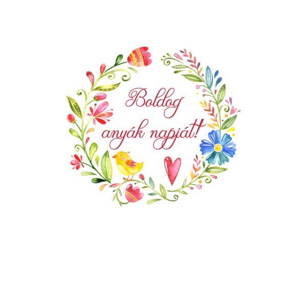 Mintás barkácsfilc - Boldog anyák napját! - hímzőkeretbe