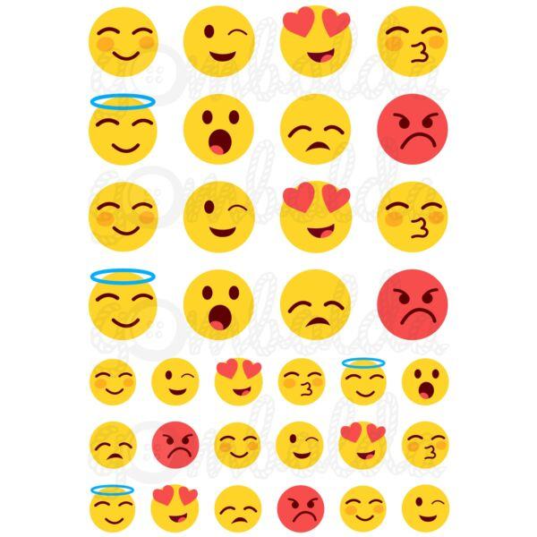 Mintás barkácsfilc - emoticons