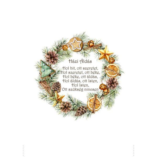 Mintás barkácsfilc - tradicionális karácsony - Házi Áldás hímzőkeretbe