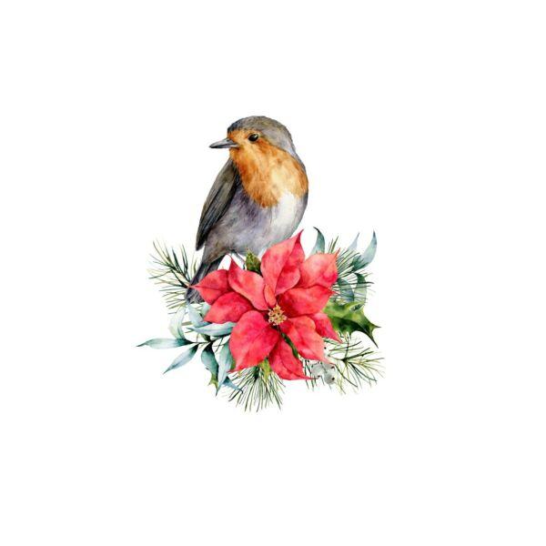 Mintás barkácsfilc - tradicionális karácsony - vörösbegy hímzőkeretbe
