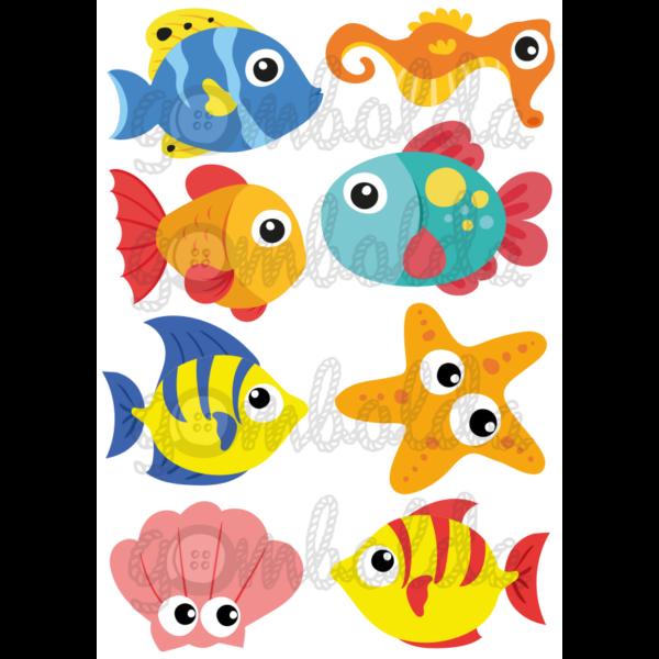 Mintás barkácsfilc - halak