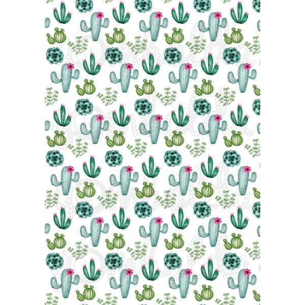 Mintás barkácsfilc - kaktuszok piciben