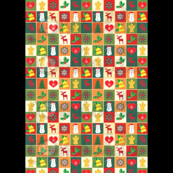 Mintás barkácsfilc - karácsonyi patchwork