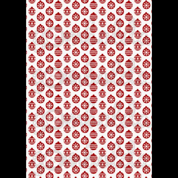 Mintás barkácsfilc - piros mini karácsonyi gömbök