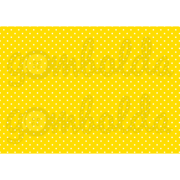 Mintás barkácsfilc - sárga alapon apró fehér pöttyös