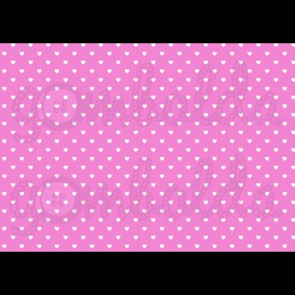 Mintás barkácsfilc - pink alapon fehér szívek