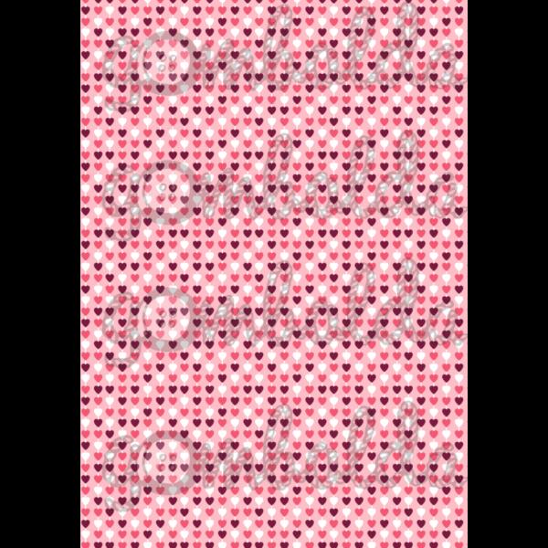 Mintás barkácsfilc - rózsaszín alapon apró szívek