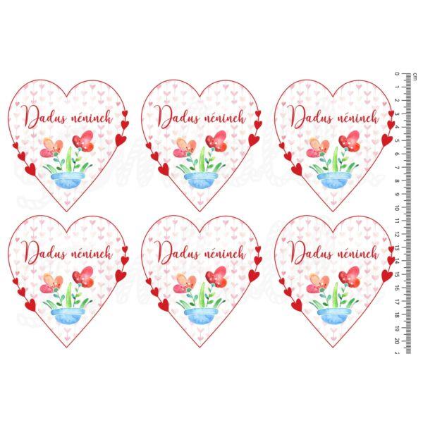 Mintás barkácsfilc - szíves szívek - Dadus néninek