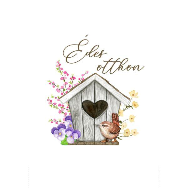 Mintás barkácsfilc - tavaszi madáretető - Édes otthon