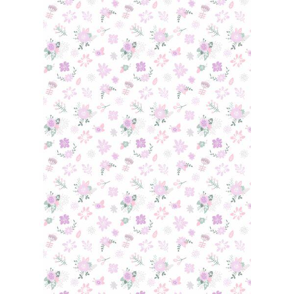 Mintás barkácsfilc - varázslatos unikornis - L széria - virágos minta