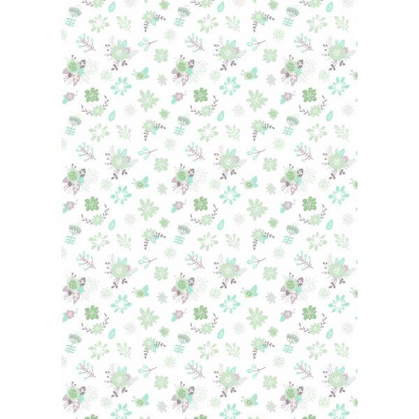 Mintás barkácsfilc - varázslatos unikornis - M széria - virágos minta