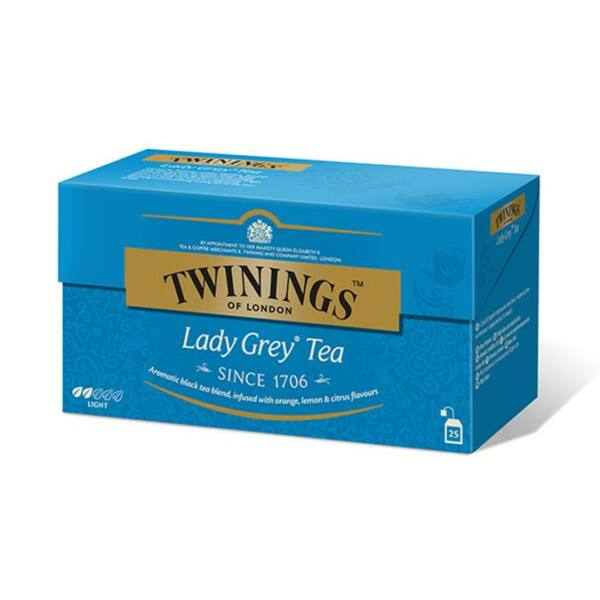 "Fekete tea. 25x2 g, TWININGS ""Lady grey"""