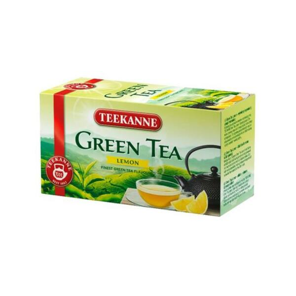 Zöld tea, 20x1,75 g, TEEKANNE, citrom