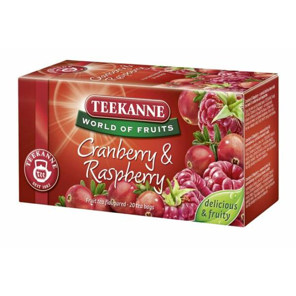 """Gyümölcstea, 20x2,25 g, TEEKANNE """"Piros bogyók"""", áfonya-málna"""