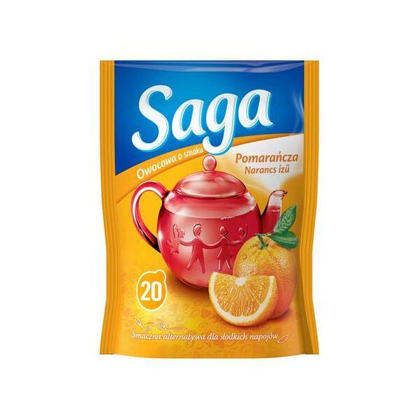 Gyümölcstea, 20x1,7 g, SAGA, narancs