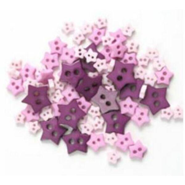 Csillag formájú mini gombok - lila