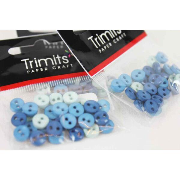 Kerek mini gombok - kék